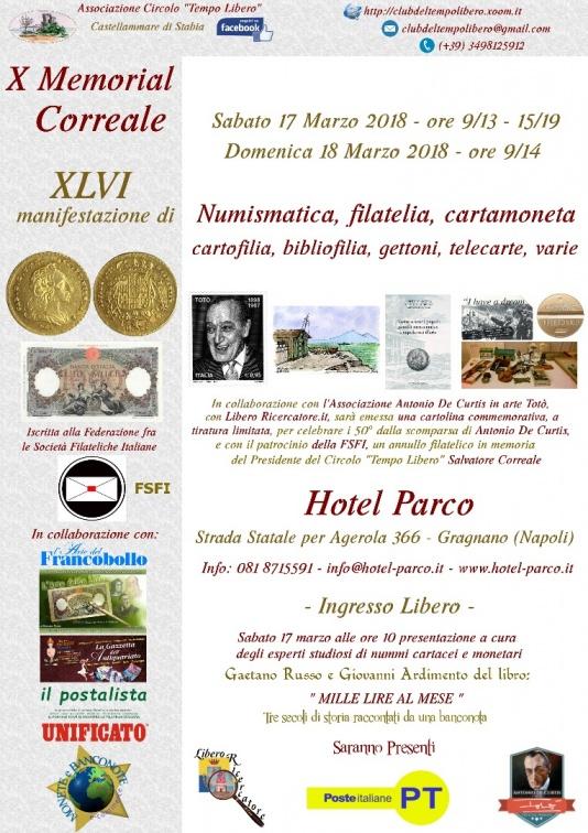 X Memorial Correale - 17/18 marzo 2018 - Gragnano (Napoli)