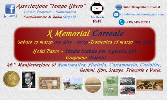 X Memorial Correale – 17/18 marzo Gragnano (Napoli)